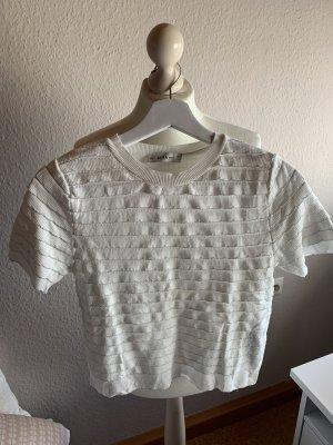 Shirt mit Volants und silbernen Details ZARA