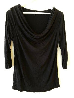 Laura Torelli Camisa con cuello caído negro