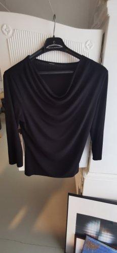Camisa con cuello caído negro