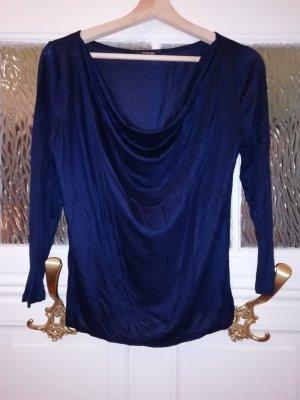 Orsay Koszulka z dekoltem woda ciemnoniebieski