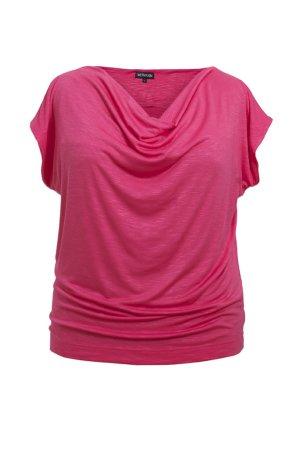 Shirt mit Wasserfallausschnitt in Größe 50/52