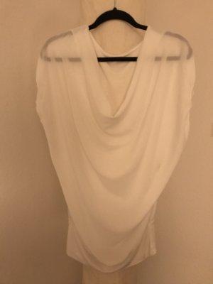 Camisa con cuello caído blanco