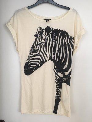 H&M T-Shirt black-cream