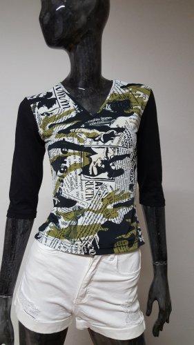 V-Neck Shirt multicolored polyamide
