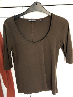 Shirt MOP S braun drei Viertel Arm