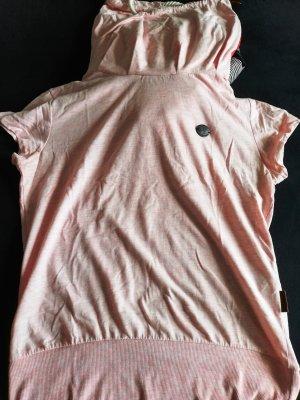 Naketano Koszulka z golfem różany Bawełna