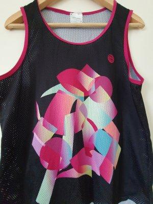 Bidi Badu Muscle Shirt black-violet polyester