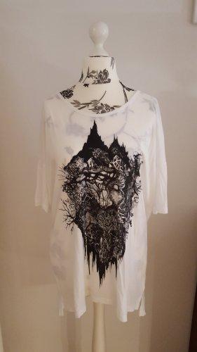 Shirt Nikita Gr. S/M weiß schwarz rockig
