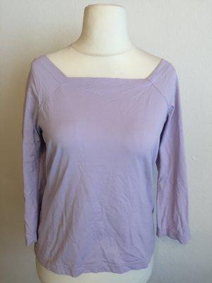 Shirt Oberteil Basic 3/4 Ärmel flieder Gr. 42