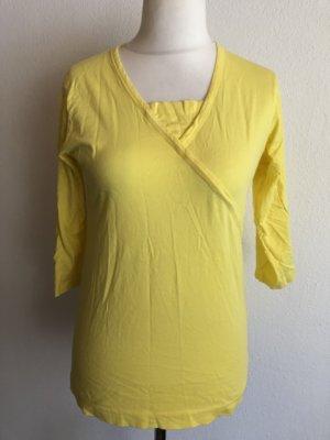 Shirt Oberteil Basic 3/4 Ärmel gelb Gr. M