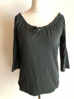 Laura Torelli Koszula typu carmen ciemnozielony