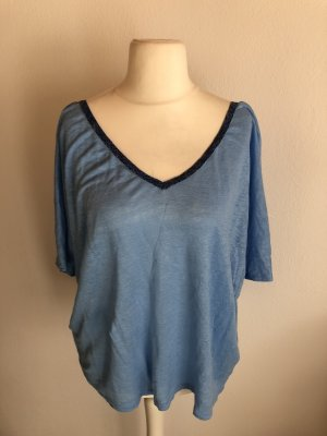 Shirt Oberteil Bluse Tunika hellblau Gr. XL Pepe Jeans
