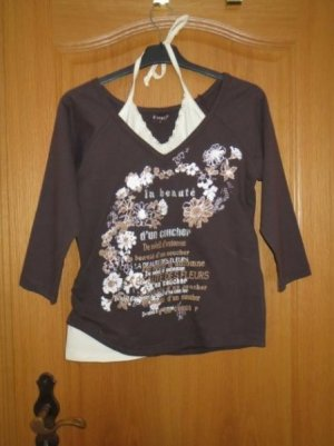 Shirt, Oberteil, Gr.M/L, braun-beige, neu