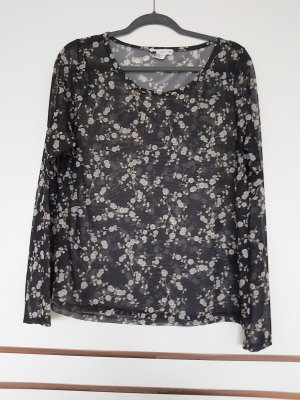 H&M Camisa de malla negro