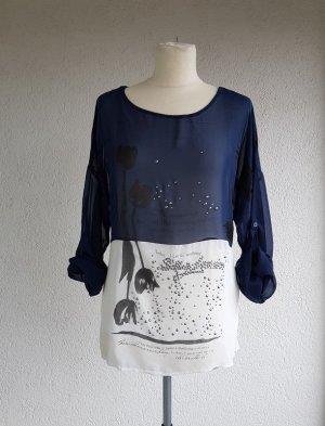 Shirt Oberteil mit Details von Multiblu in Gr. M