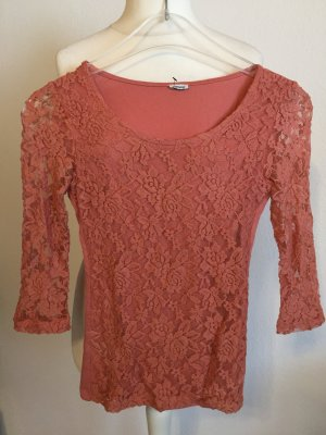 Pimkie Gehaakt shirt stoffig roze-roze