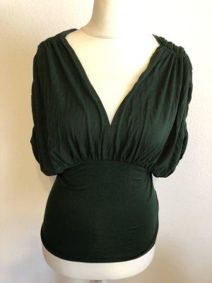 Shirt Oberteil raffiniert dunkelgrün