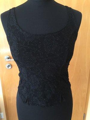 Shirt, Oberteil, schwarz mit Spitze und Glitzer, Pimkie, Gr. S, NEU mit Etikett!