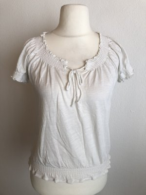 Shirt Oberteil T-Shirt Bluse weiß Roxy Gr. S
