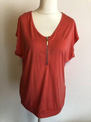 Shirt Oberteil T-Shirt hellrot rot Gr. 40/42