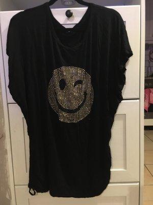 Lang shirt zwart-zilver