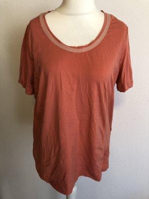 Shirt Oberteil T-Shirt Sport lachs Gr. 44/46