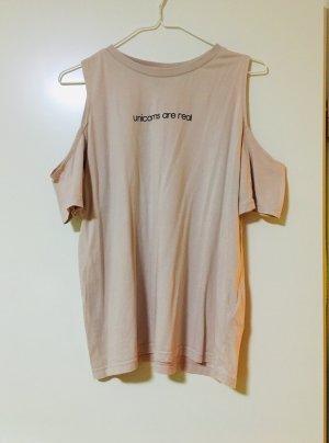 H&M Top cut-out color oro rosa-rosa antico