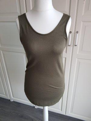 Shirt ohne Arm von Vero Moda Olivgrün, Größe M
