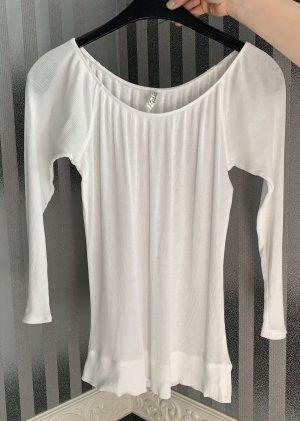 Old Navy Camisa acanalada blanco
