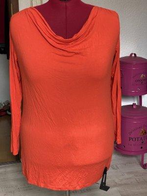 Cowl-Neck Shirt orange spandex
