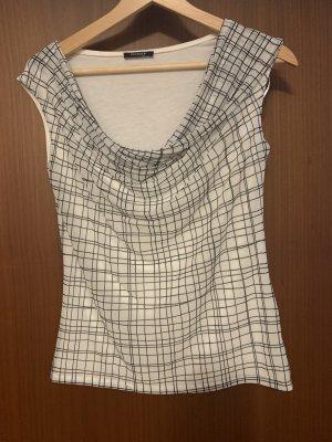 Orsay Koszulka z dekoltem woda czarny-biały