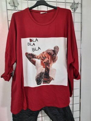 Made in Italy Camisa holgada rojo oscuro