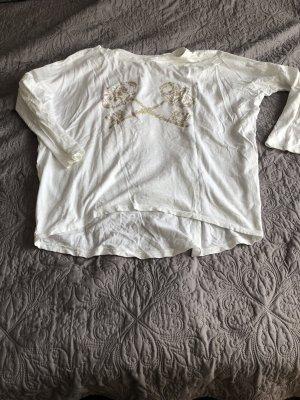Camicia oversize oro-bianco