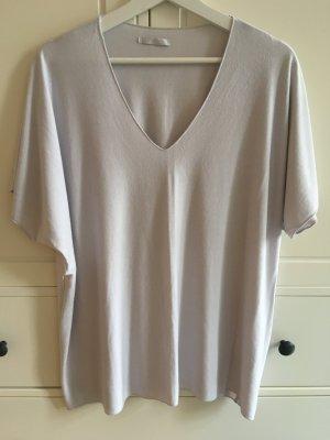 Camisa holgada gris claro-beige claro Viscosa