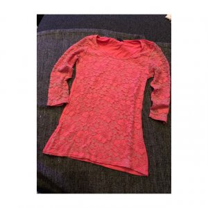 Amisu Boatneck Shirt pink-magenta