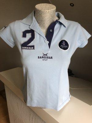 Sansibar Polo Shirt light blue-dark blue