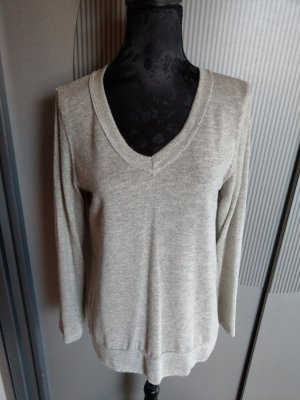 Shirt Pullover beige neu D&F Fashion
