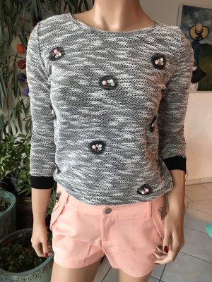 Sweewe Knitted Sweater grey-black