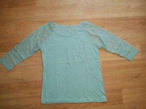Colours of the World Camisa de malla azul claro-azul bebé