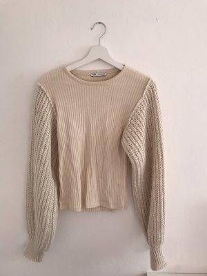 Zara Haut tricotés chameau
