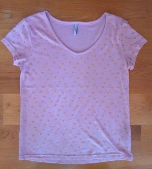 Shirt rosa mit Herzen Gr. XL