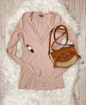 Shirt rosa mit Spitze