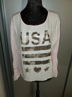 Shirt rosa Pailletten chic & mit