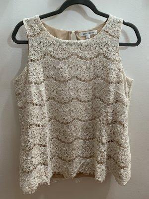 Rose + Olive Crochet Shirt white-cream