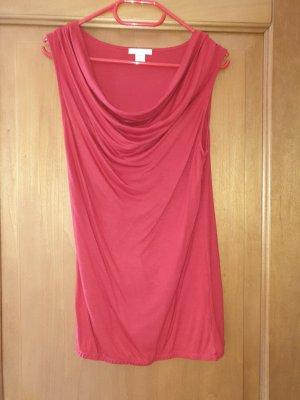 Amisu Koszulka z dekoltem woda czerwony