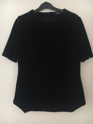 Shirt Samt schwarz s.Oliver