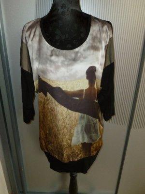 Shirt schwarz beige Cosima