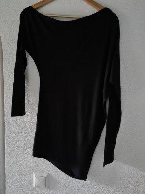 TopStudio Camisa de un solo hombro negro