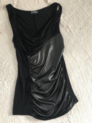 Only Camisa con cuello caído negro