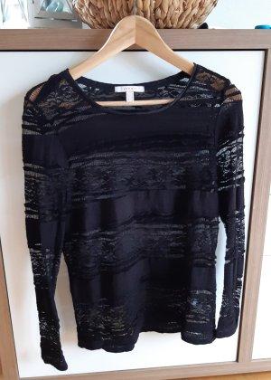 Shirt schwarz Gr.S von Esprit mit Spitze